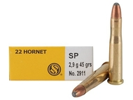 Surplus Ammo | Surplusammo.com .22 Hornet 45 Gr SP Sellier & Bellot