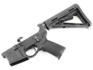 "Surplusammo.com | Surplus Ammo SAA - BA-15 Billet ""Skull"" Logo AR15 Complete Lower with Magpul MOE Furniture SAA-BILSKMOE"