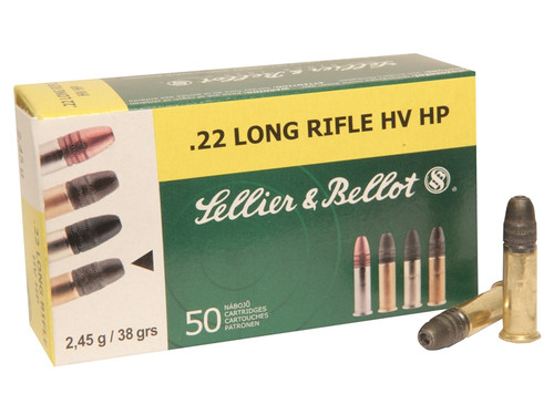 Surplus Ammo | Surplusammo.com .22 Long Rifle 38 Gr HV HP Sellier & Bellot