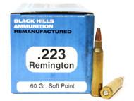 Surplus Ammo | Surplusammo.com .223 60 Grain SP Black Hills - 50 Rounds, Factory Reman BHM223R4