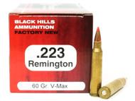Surplus Ammo | Surplusammo.com .223 60 Grain V-MAX Black Hills - 50 Rounds, NEW-Red Box BHD223N10