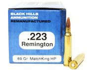 Surplus Ammo | Surplusammo.com .223 69 Grain Sierra Matchking HP Black Hills For Sale In Stock BHM223R12
