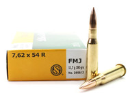 Surplus Ammo | Surplusammo.com 7.62x54R 180 Grain FMJ Sellier & Bellot - 20 Rounds SB76254RA