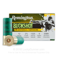 "Surplus Ammo | Surplusammo.com Remington 12 Gauge Buckshot 2 3/4"" 00 Buck 9 Pellet - 25 Rounds (20411)"