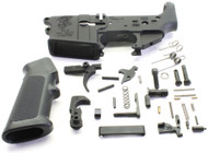 SAA SA15 Grim Reaper Logo AR15 Stripped Lower Receiver + Lower Parts Kit - Unassembled SAA-SA15GR-STPD+LPK