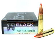 Surplusammo.com | Surplus Ammo 300 AAC Blackout 110 Grain V-MAX Hornady Black Ammunition - 20 Rounds HO80873