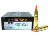 Surplusammo.com | Surplus Ammo 6.8 SPC 110 Grain V-MAX Hornady Black Ammunition - 20 Rounds HO83464