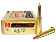 Surplusammo.com | Surplus Ammo 25-35 Win 110 Grain FTX Hornady LEVERevolution Ammunition - 20 Rounds HO8277