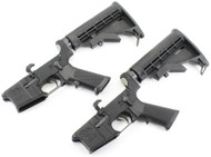 Surplusammo.com   Surplus Ammo Anderson AM-15 AR15 Complete Lower  with Collapsing Stock & Open Trigger Guard AR-15 Complete Lower Receiver AND-AM15T-UM-6-2 PACK