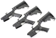 Surplusammo.com   Surplus Ammo Anderson AM-15 AR15 Complete Lower  with Collapsing Stock & Open Trigger Guard AR-15 Complete Lower Receiver AND-AM15T-UM-6-3 PACK