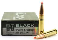 Surplus Ammo | Surplusammo.com 300 AAC Blackout 208 Grain A-MAX Hornady Black Ammunition - 20 Rounds  HO80891