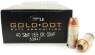 Surplusammo.com 40 S&W 165 Grain Gold Dot HP Speer CCI - 50 Rounds CC53947