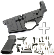 Surplusammo.com SOTA - SA 15 Billet AR15 Stripped Lower Receiver + DPMS Lower Parts Kit - Unassembled SOTA-SA15-STRPD-BLLT+LPK