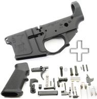 Surplusammo.com SOTA - SA 15 Billet AR15 Stripped Lower Receiver + DPMS Lower Parts Kit - Unassembled SOTA-SA15-STRPD-BLLT+LPK