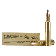 Surplus Ammo | Surplusammo.com Weatherby .378 WBY Magnum 270 Grain Ultra High Velocity - 20 Rounds (H378270SP)