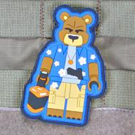 Surplus Ammo   Surplusammo.com Creasy Bear Brick Operator - Always Outnumbered Never Outgunned   PVC Patch