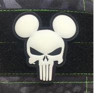 Surplus Ammo | Surplusammo.com Mickey Punisher GITD | PVC Patch