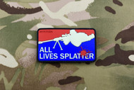 Surplus Ammo | Surplusammo.com All Lives Splatter Glow In the Dark 3D PVC Morale Patch