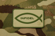 Surplus Ammo | Surplusammo.com Christian Infidel PVC Morale Patch Multicam
