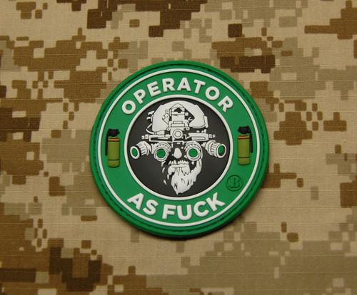 Surplus Ammo | Surplusammo.com Operator AS F*** 3D PVC Morale Patch - Starbucks Parody