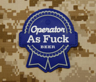 Surplus Ammo | Surplusammo.com Operator AS F*** 3D PVC Morale Patch - PBR Parody