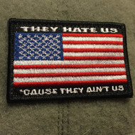 Surplus Ammo | Surplusammo.com They Hate Us 'Cause They Ain't Us USA Velcro Morale Patch
