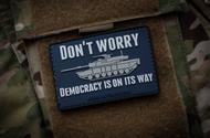 Surplus Ammo   Surplusammo.com Democracy Is On Its Way PVC Morale Patch