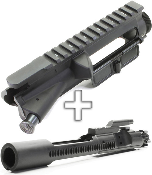 Surplusammo.com Aero Precision Forged AR15 Assembled T-Marked Flat Top Upper Receiver - Fwd Assist+Dust Cover + SAA Phosphate 5.56 BCG APAR501603A-SAABP017
