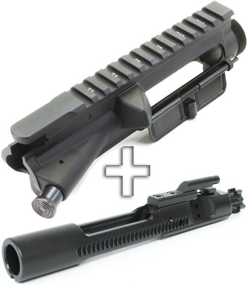 Surplusammo.com Aero Precision Forged AR15 Assembled T-Marked Flat Top Upper Receiver - Fwd Assist+Dust Cover + SAA Nitride 5.56 BCG APAR501603A-SAABP018