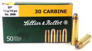 30 Carbine 110 Grain SP Sellier & Bellot - 50 Rounds SB30B