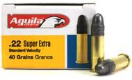 22 LR Aguila SuperExtra Standard Velocity 40 Grain LRN - 500 Round Brick 1B222332
