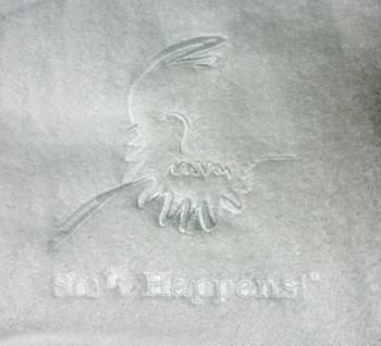 White Robe with White Shift Happens Logo