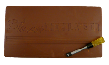 Blommer's Milk Chocolate 10 Lb Bar-Chisel may have different handle than pictured.