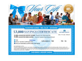 Savings Certificates are available in PDF format at no additional charge.