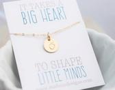 apple charm necklace • teacher gift