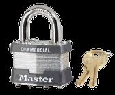 Master Lock No.1 - 1-3/4in (44mm) Wide Laminated Steel Pin Tumbler Padlock