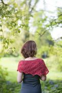 Wild Cherry Shawlette Pattern - HARDCOPY