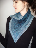 Rip Curl Shawlette pattern - HARDCOPY,  with yarn option