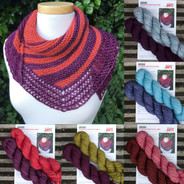 Andana Shawlette pattern HARDCOPY, with yarn kit options