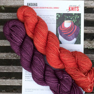 Andana Kit - Yarn Only, Impatiens and Berry Yummy