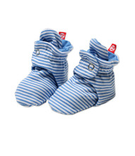 Zutano Periwinkle Candy Stripe Baby Booties
