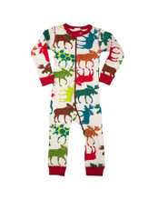 Lazy One Patterned Moose Infant Union Suit