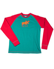Lazy One Patterned Moose Longsleeve PJ Tee