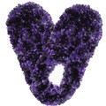 Fuzzy Footies Purple/Black
