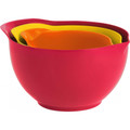 Trudeau Bamboo / Melamine Mixing Bowls - Set of 3