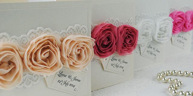 customer showcase With 3d rose wedding invitations