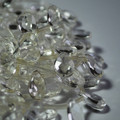 10 Semi Precious Gemstone Clear Quartz Crystal Faceted Teardrop Beads / Pendant 12mm 14mm 18mm