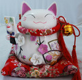 Large Japanese Lucky Cat Maneki Neko FENG SHUI Money Box Piggy Bank Pink