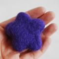 100% Wool Felt Flower - 5cm - Purple
