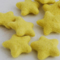 100% Wool Felt Stars - 5 Count - Yellow